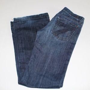7 for all Mankind Dojo Dark indigo Flare Jeans S28